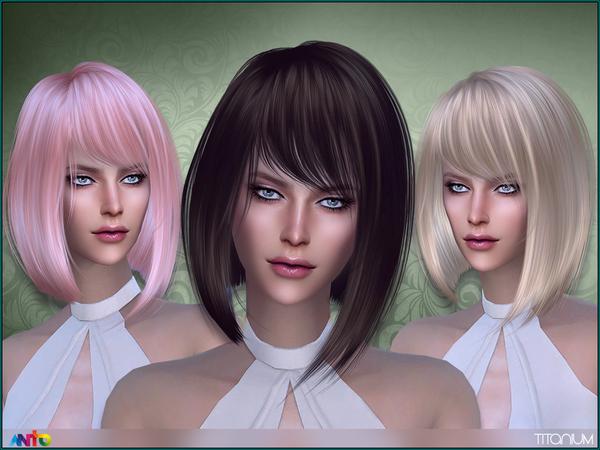 The Sims Resource: Anto   Titanium Hairstyle