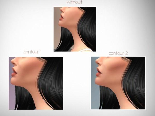 The Sims Resource: Cheekbone Contours N01 by serenitycc