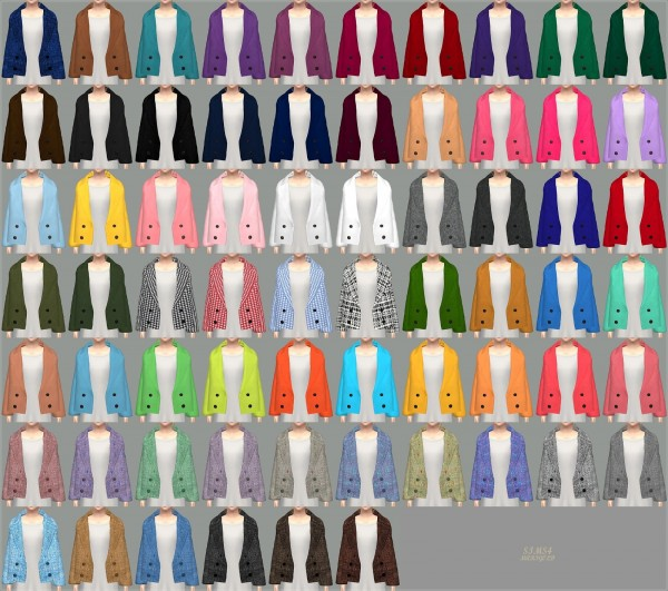SIMS4 Marigold: ACC Winter Coat V1 single colors