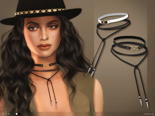 The Sims Resource: Doe Chokers by toksik
