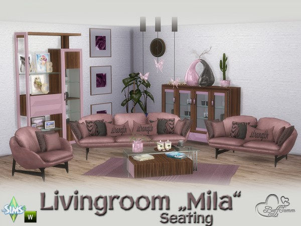 The Sims Resource: Mila Living Seating by BuffSumm
