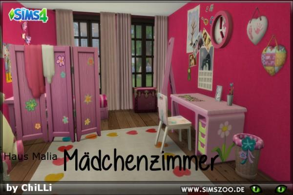 Blackys Sims 4 Zoo: Malia Girls Room by ChiLLi