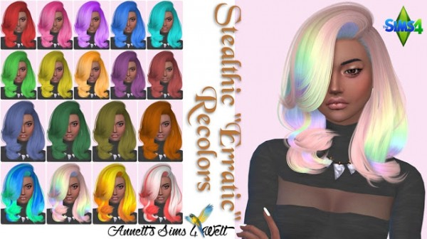 Annett`s Sims 4 Welt: Stealthic Erratic hairstyle Recolors