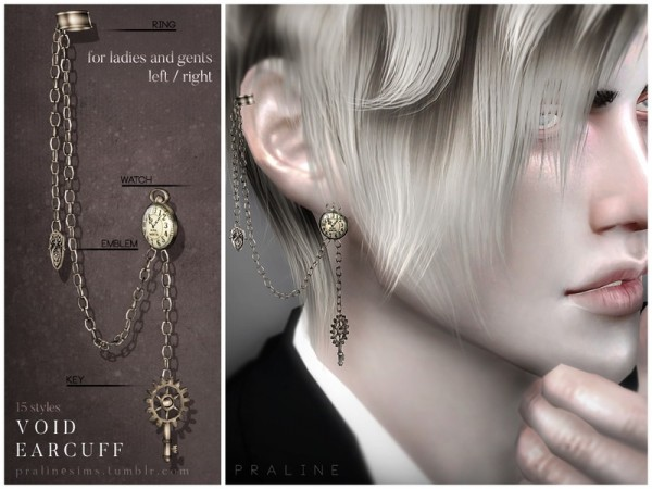 The Sims Resource: Void Earcuff by Pralinesims