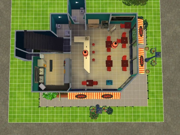 Mod The Sims: Lukes restaurant no CC by Elby94