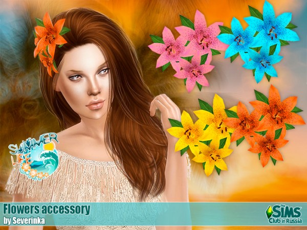 Sims by Severinka: Accessory flowers