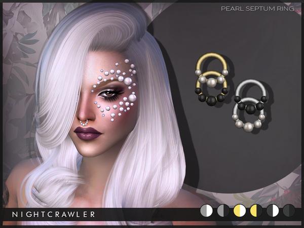 The Sims Resource: Nightcrawler PearlSeptumRing