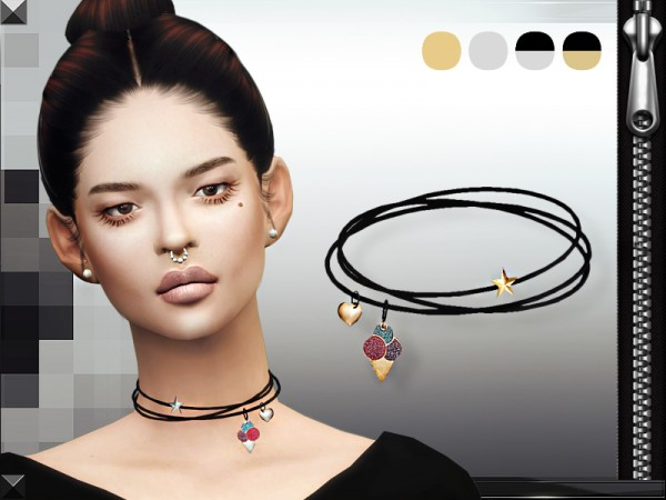 MissFortune Sims: Charms Necklace