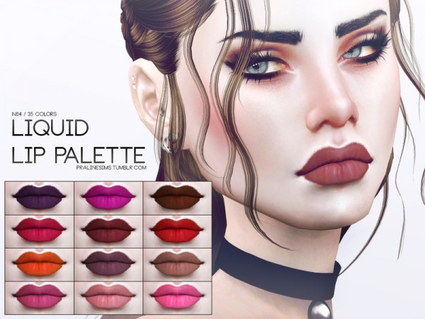 The Sims Resource: Liquid Lip Palette N84 by Pralinesims