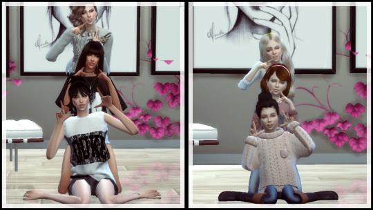 Simsworkshop: Trio Pose 1 by ConceptDesign97