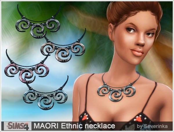 Sims by Severinka: Ethnic necklace MAORI