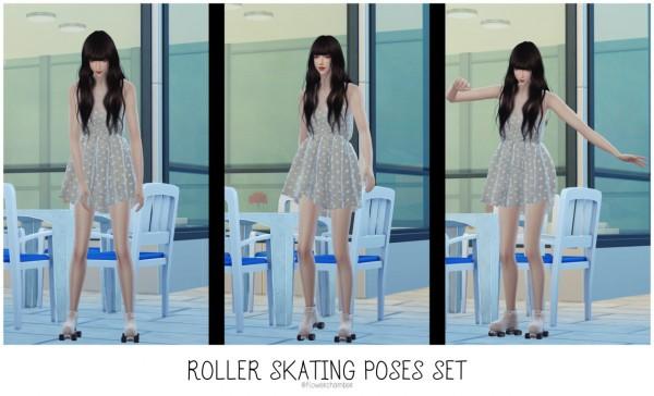 Flower Chamber: Roller skating poses set