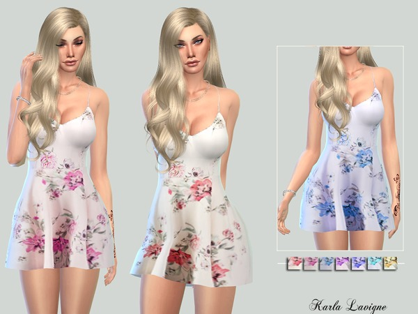 The Sims Resource: Karina Dress by Karla Lavigne