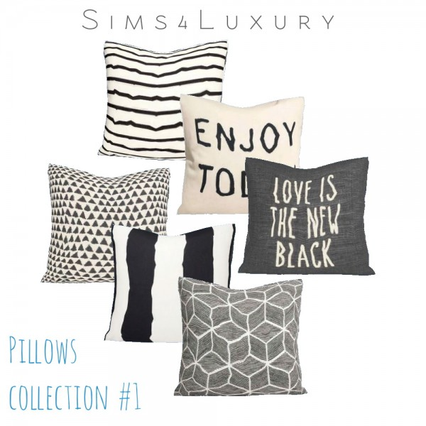 Sims4luxury Pillows Collection 1 Sims 4 Downloads