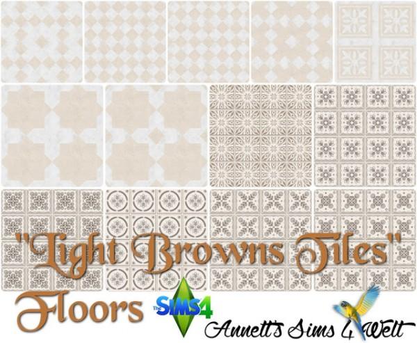 Annett`s Sims 4 Welt: Floors Light Browns Tiles