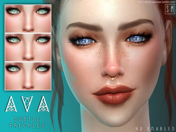The Sims Resource: Ava   Subtle Freckles by Screaming Mustard