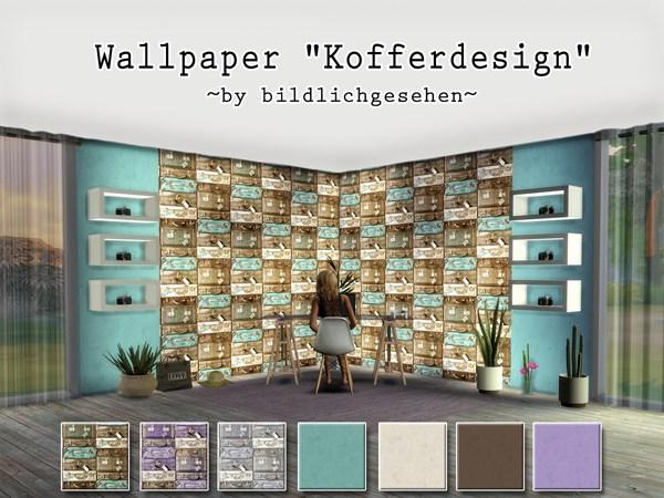 Akisima Sims Blog: Walls Suitcasesdesigns