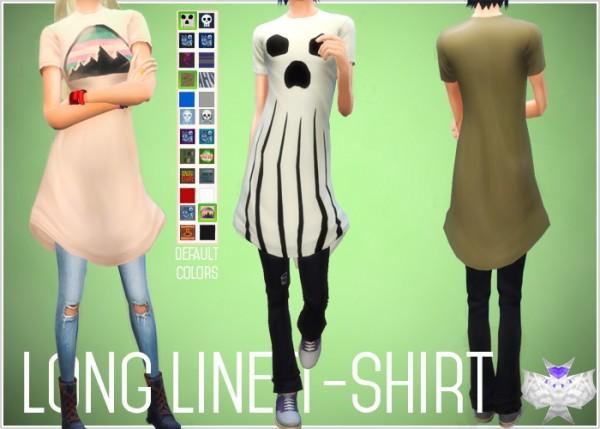 David Sims: Long Line T Shirt