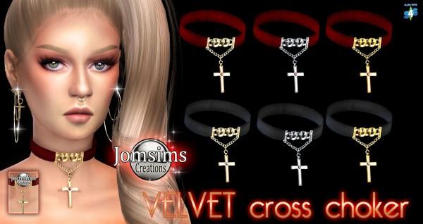 Jom Sims Creations: Velvet cross choker