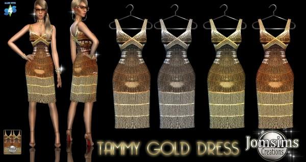 Jom Sims Creations: Tammy gold dress