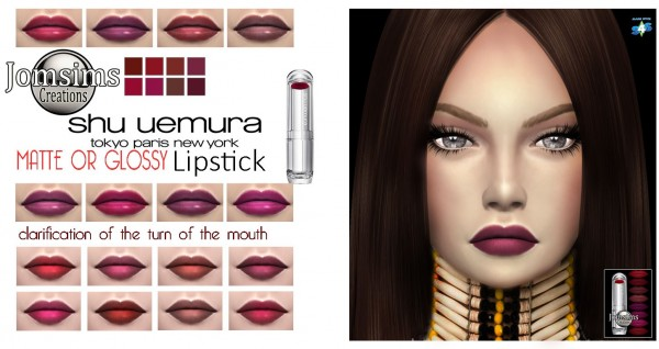 Jom Sims Creations: SHU UEMURA lips