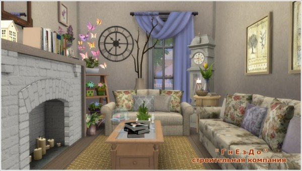 Sims 3 by Mulena: Provence livingroom