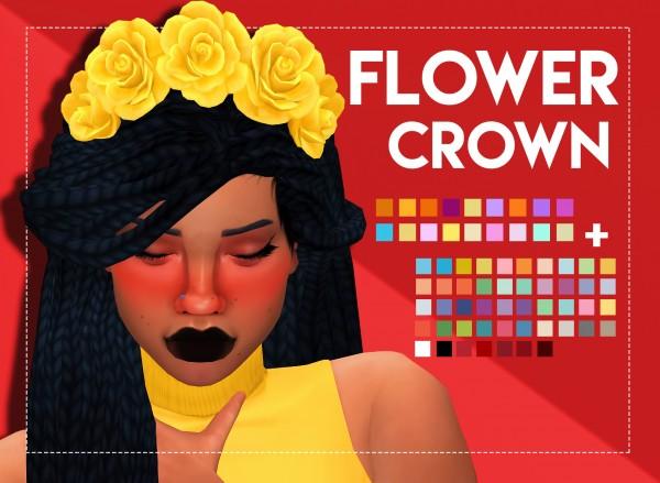 Simsworkshop: Flower Crown by Weepingsimmer