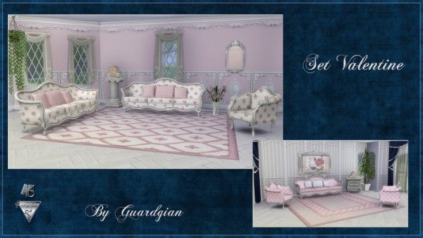 Khany Sims: Valentine livingroom