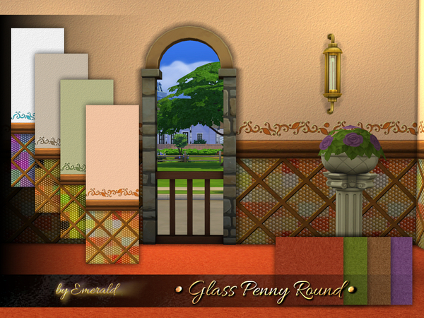 The Sims Resource: Glass Penny Round by emerald