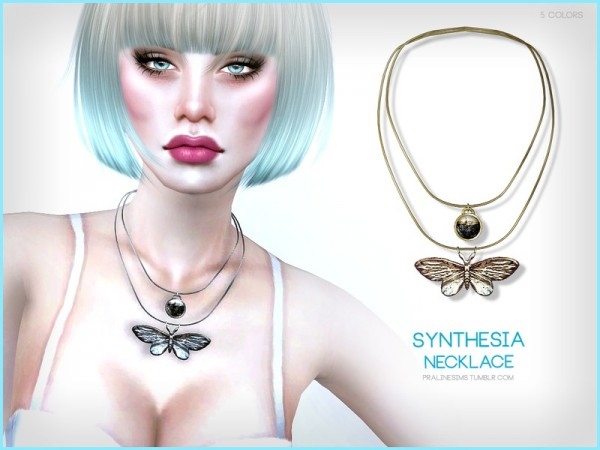The Sims Resource: Synthesia Necklace by Pralinesims