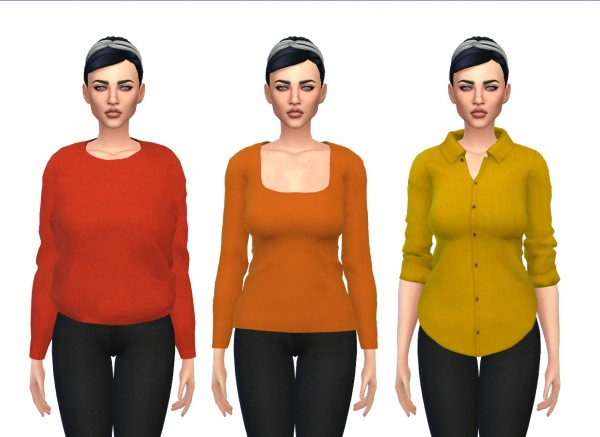 Simsworkshop: 9 Tops Recolored by maimouth