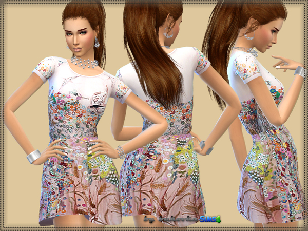 The Sims Resource: Dress Small Flower by Bukovka