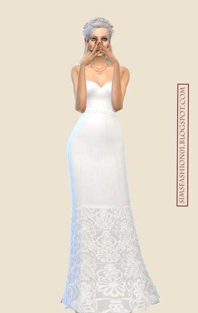Sims Fashion 01: Lace Wedding Dresses
