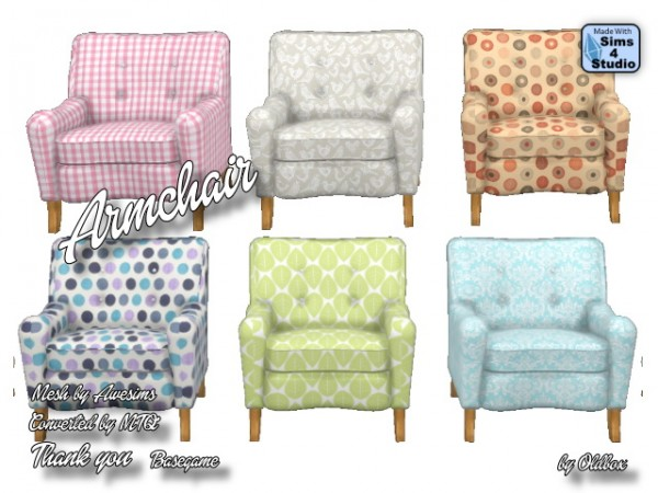 All4Sims: Armchair by oldbox