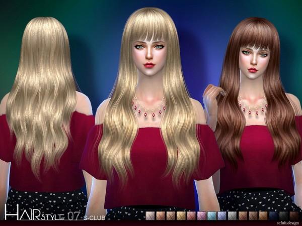 The Sims Resource: S Club   Hair N7