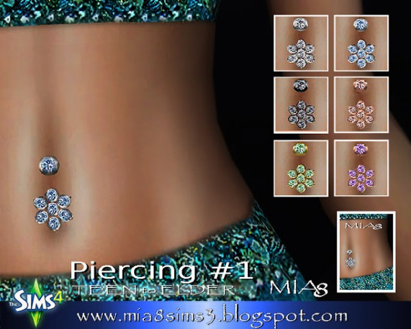Mia8 Earrings Neckalce Rings Piercing Sims 4 Downloads