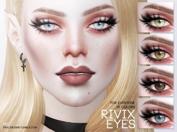 The Sims Resource: Rivix Eyes N101 by Pralinesims