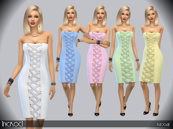 The Sims Resource: Incroci dress by Paogae