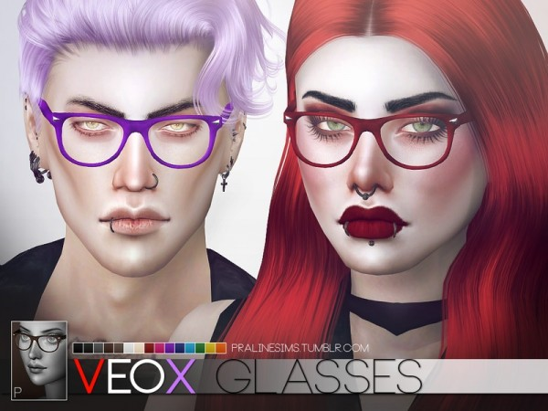 The Sims Resource: Veox Glasses by Pralinesims