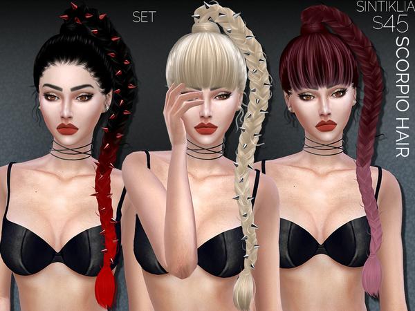 The Sims Resource: Sintiklia   Hairset Scorpio