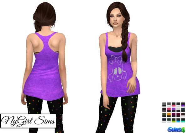 NY Girl Sims: Layered Skull Tank
