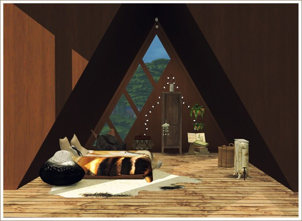 Sims 4 Designs: Triangular Loft Windows + Ceiling Frames