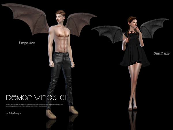 The Sims Resource: Devil wings 01 by S Club