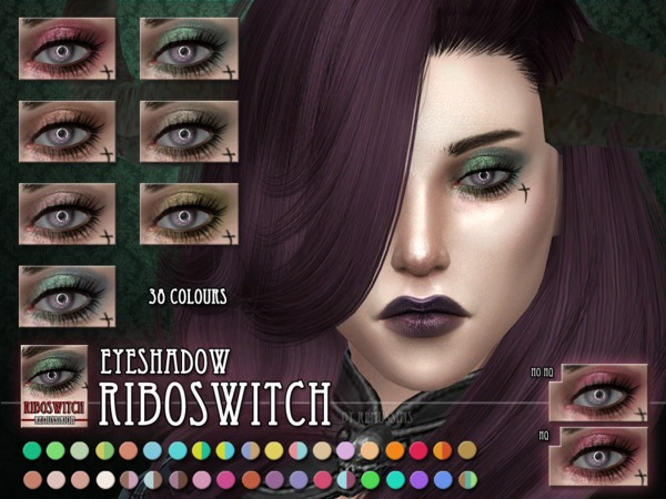 The Sims Resource: Riboswitch Eyeshadow by RemusSirion