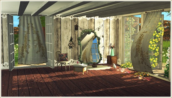 Sims 4 Designs Wind Blown Curtains Antique Mirrors And