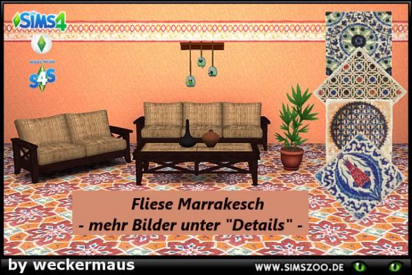 Blacky Sims 4 Zoo: Marrakesch Floor tile by weckermaus