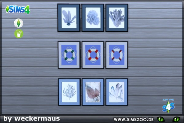 Blackys Sims 4 Zoo: Sea Breeze paintings 1 by  weckermaus