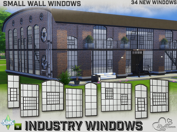 The Sims Resource: Industry Windows for Small Wall Size
