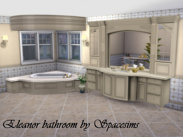 The sims resource eleanor bathroom by spacesims sims 4 for Bathroom ideas sims 4