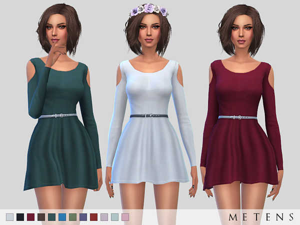 The Sims Resource: Wisteria Dress by Metens